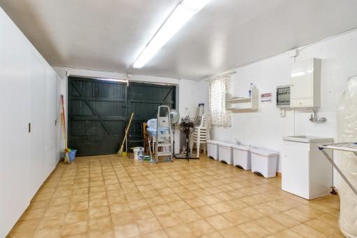 Spacious garage or storage room