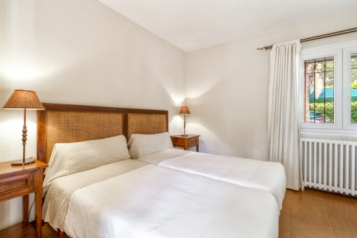 Comfortable double-bedroom with heating