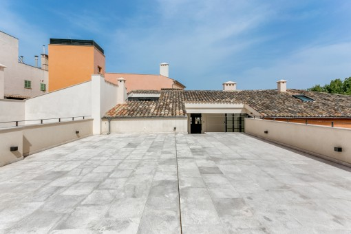 Views of the roof terrace