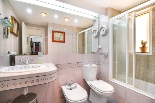 Second bathroom with daylight