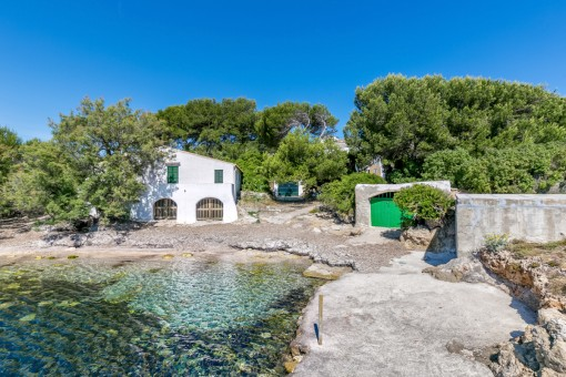 Charming seafront property in the quiet and secluded location of Es Carregador