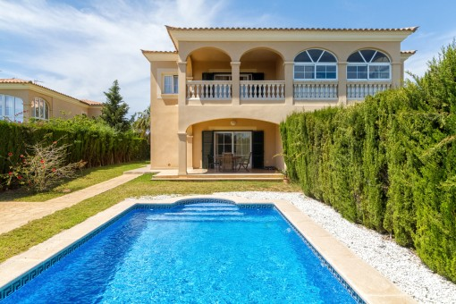 Exclusive semi-detached house with pool and sea views in Sa Torre