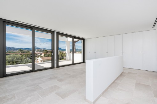 Large master bedroom with own terrace