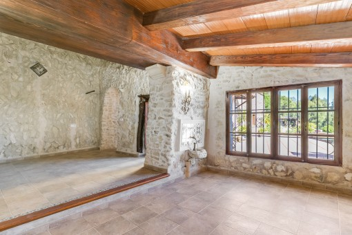 The oldest part of the finca has been carefully renovated