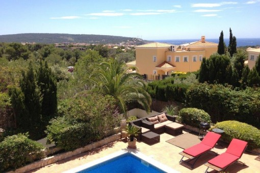 Sea views from the villa