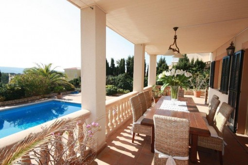 The villa is ideal for a family