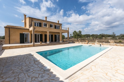 Sunny pool terrace