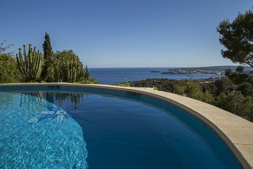 Impressive views from the pool