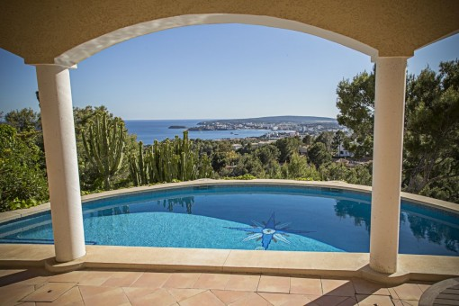 Magical property with sea views in Costa d'en Blanes