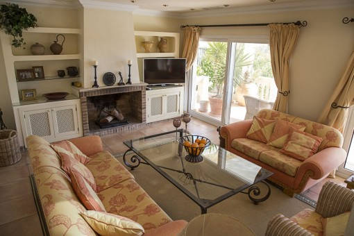 Cosy living area of the property