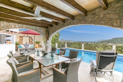 German build quality villa with full panoramic views of the Bay of Pollensa
