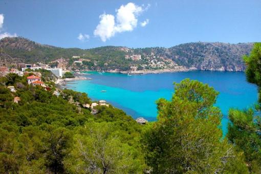 The beautiful coast of Camp de Mar