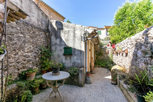 Typical mallorcan inner courtyard