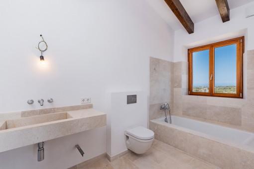 Elegant design of the bathrooms