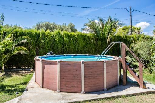 Well-kept pool in the garden of the property