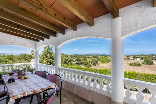 Stunning mountain views from the terrace of the finca