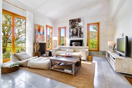 Bright lounge area