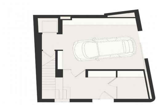 Construction plan of the garage and ground floor
