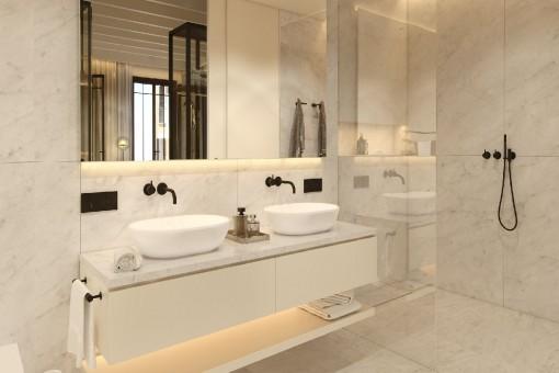 Luxurious and modern bathroom