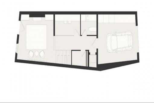 Construction plan: Garage and ground floor