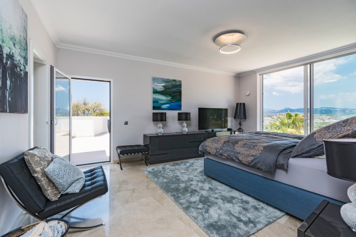 Master bedroom with roof top access