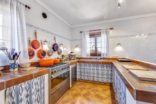 Mallorcan style kitchen