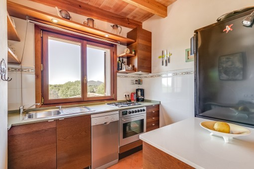 Small kitchen with a view