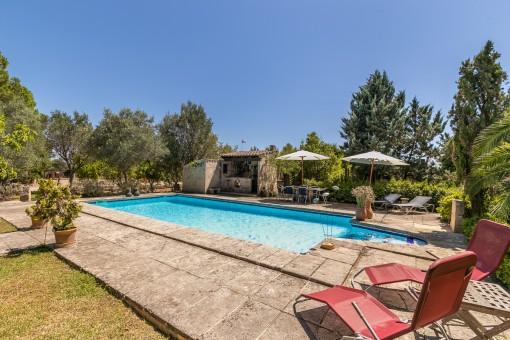Idyllic pool area