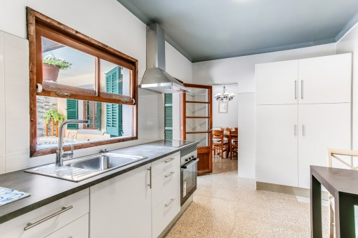 Kitchen with views to the patio