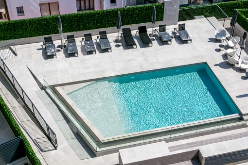 Views to the communal pool