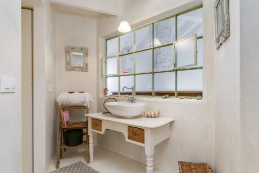 Bathroom in a loft style