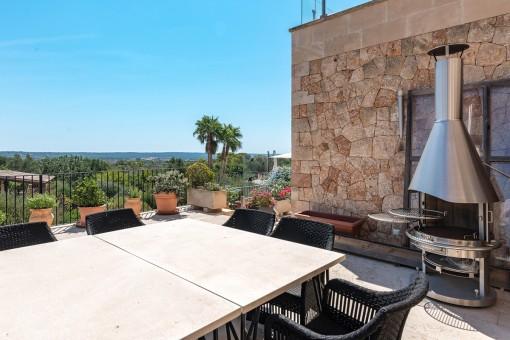 Sun terrace with BBQ area