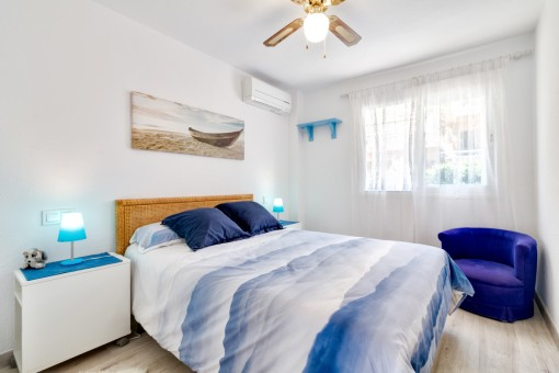 Bright double-bedroom with air conditioning