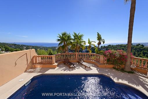 Pool with impressive sea views
