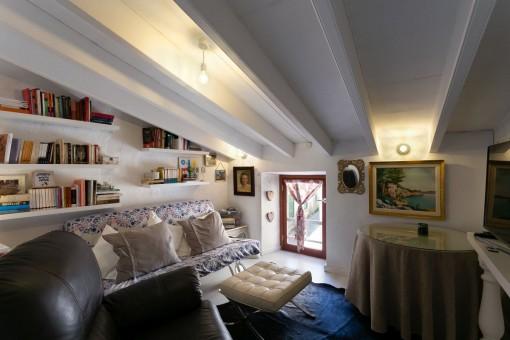 Cosy reading corner on the upper floor