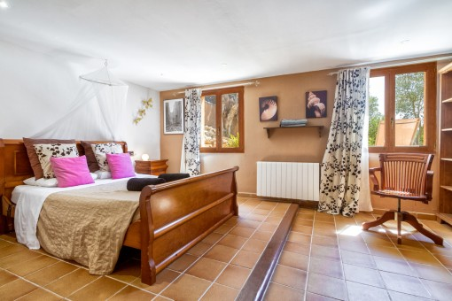 One of three spacious bedrooms with heating