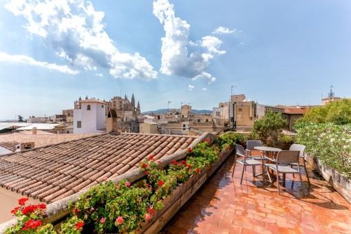 Roof terrace with wonderful views over Palma's old town