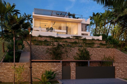 Romantic villa with a 15 metre-long window frontage