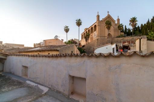 Impressive views of the church