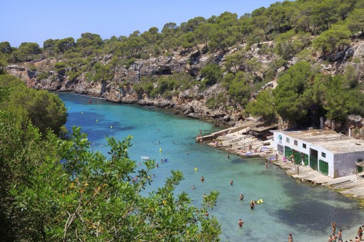 The beautiful bay of Cala Pi is very close