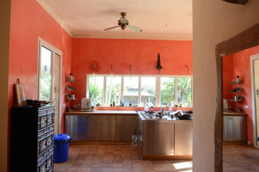 Kitchen with access to the terrace