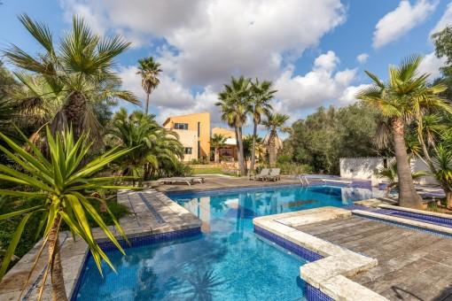 Generously-sized pool