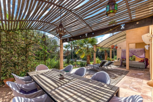 Beautiful terrace with dining area