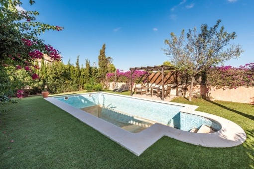 Garden with pool and sun terrace