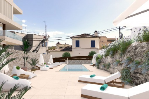 Fantastic roof top terrace and pool