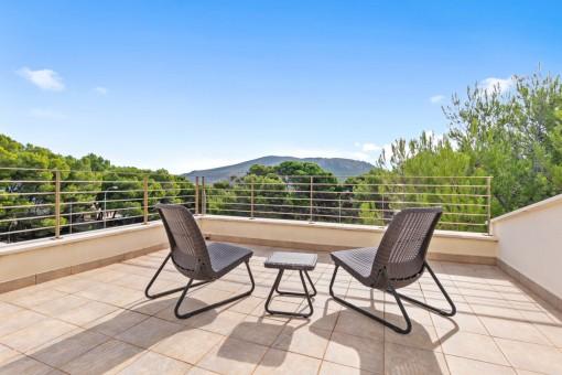 Very private terrace