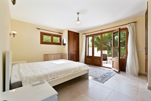 One of 6 bedrooms with terrace