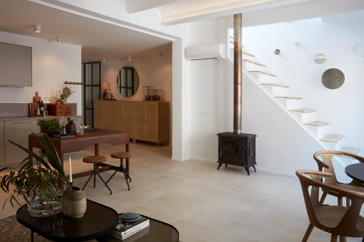 Completely renovated penthouse with beautiful furniture near to Santa Catalina