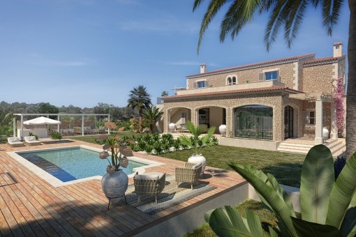 Finca on a large plot in a wonderful location near Cala Llombards