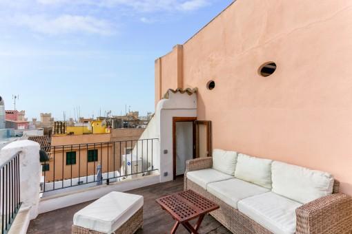 Wonderful lounge on the terrace